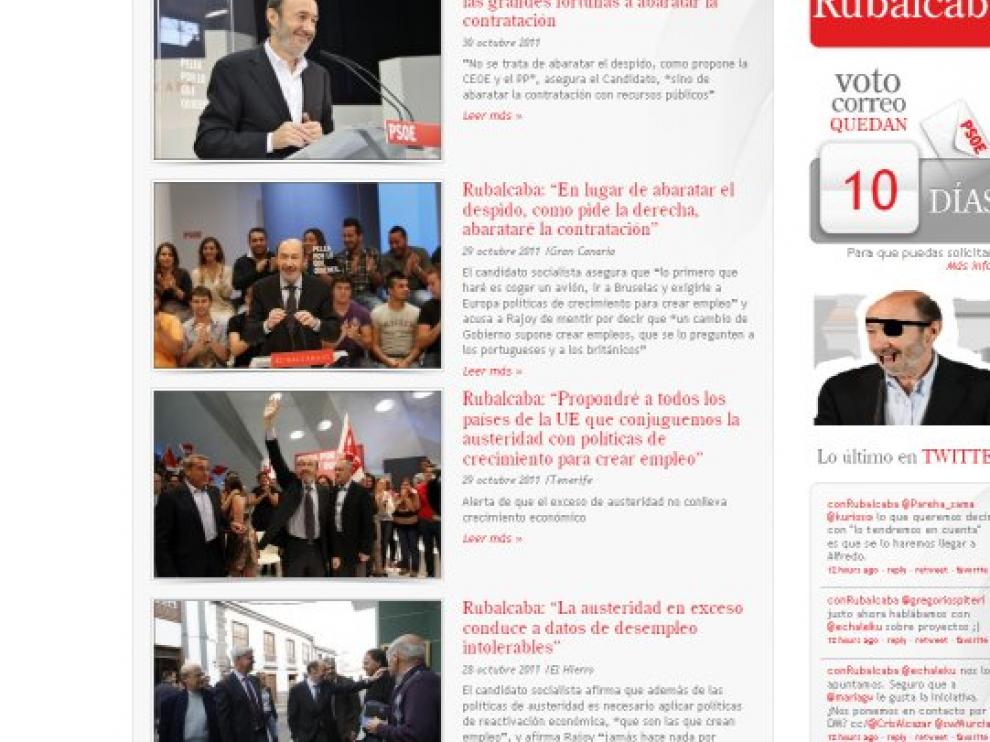 La web de Rubalcaba, hackeada