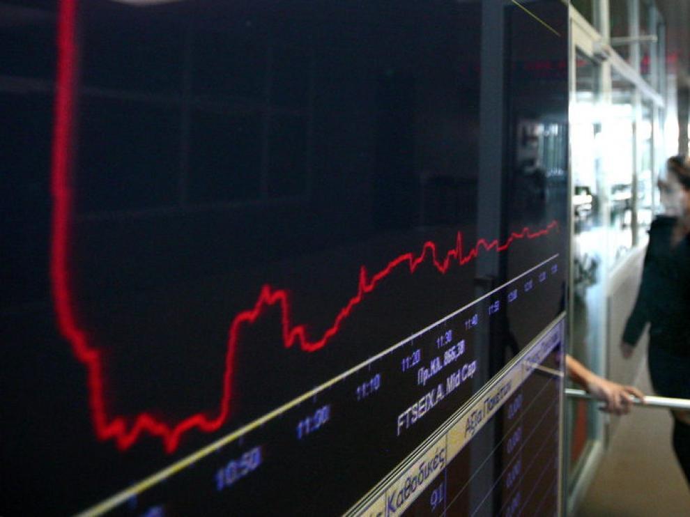 Imagen de la bolsa griega, la más perjudicada