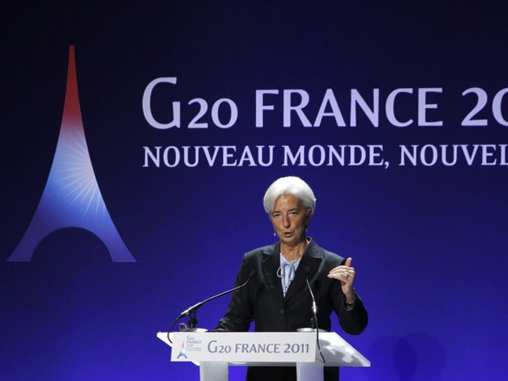 Christine Lagarde, en Cannes