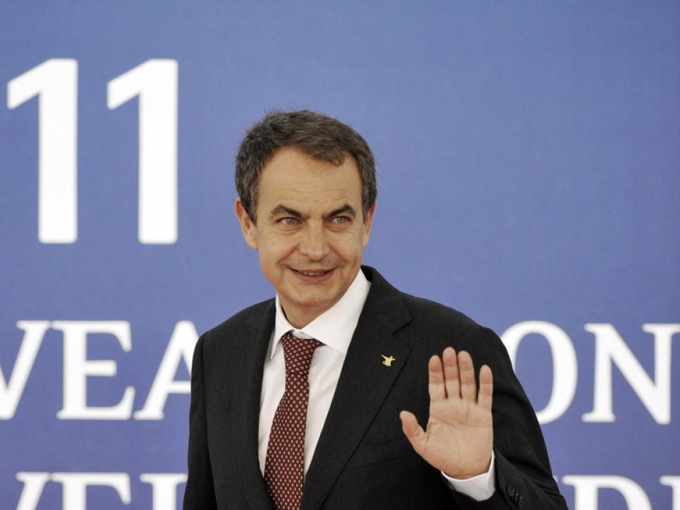 Zapatero en la cumbre de Cannes