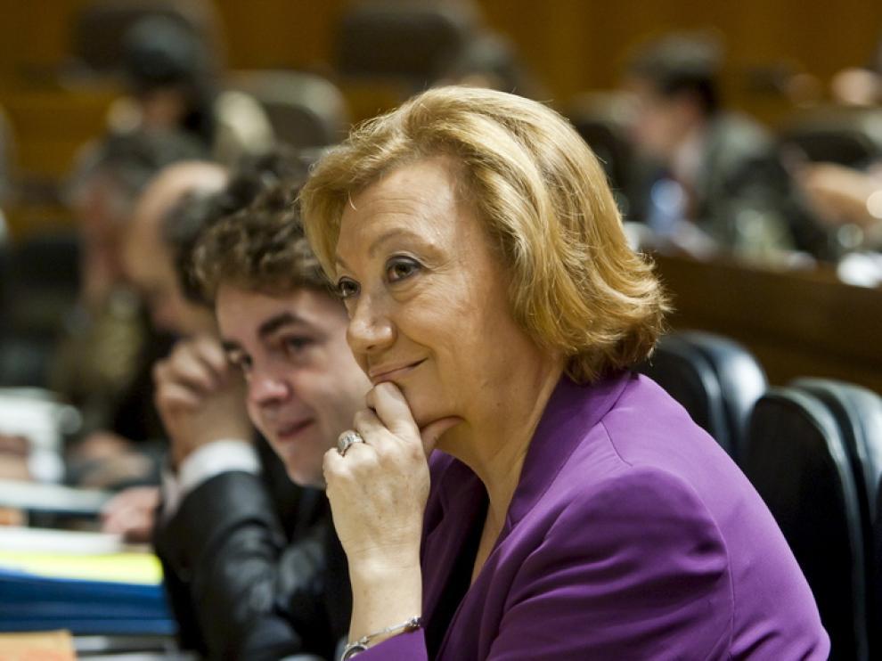 La presidenta de la Comunidad autónoma, Luisa Fernanda Rudi