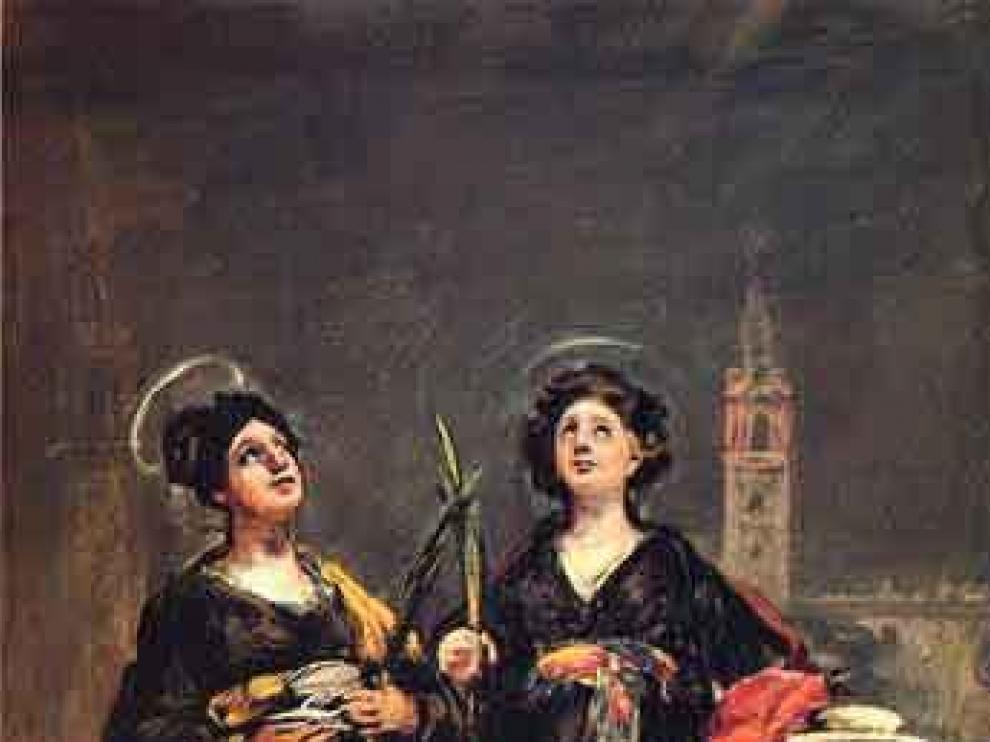 Imagen del cuadro de Goya 'Santas Justa y Rufina'