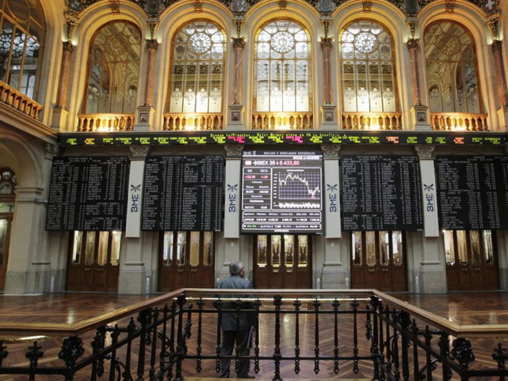 Imagen del interior del Palacio de la Bolsa de Madrid