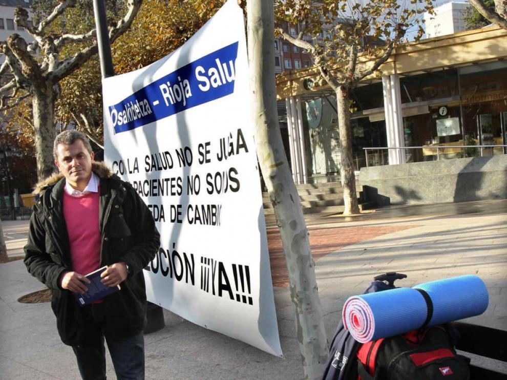 El alcalde de Oyón, Rubén Garrido, ha comenzado una huelga de hambre