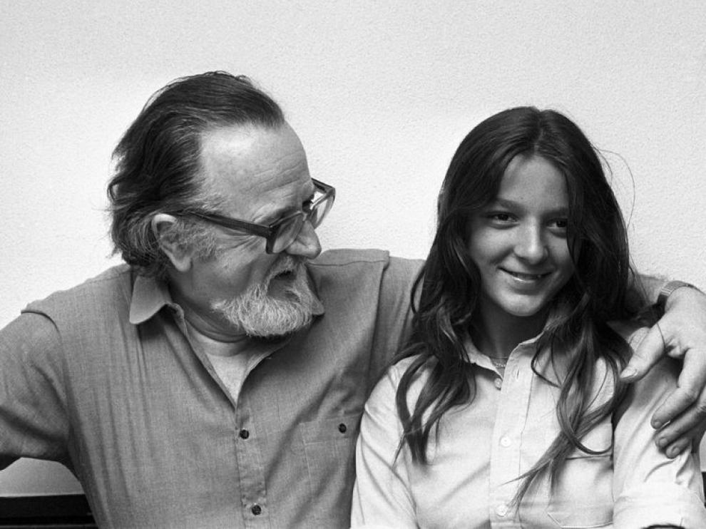 José Donoso con su hija Pilar