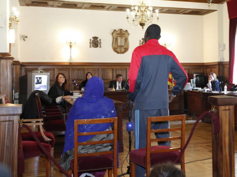 Los padres de la niña durante el juicio