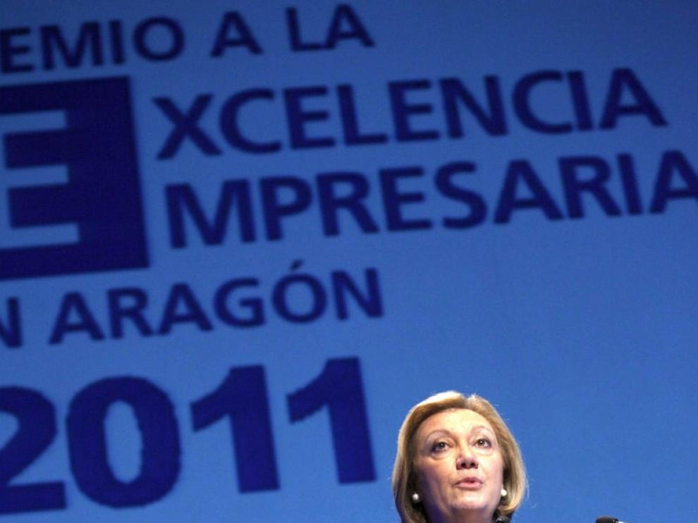 La presidenta aragonesa, Luisa Fernanda Rudi