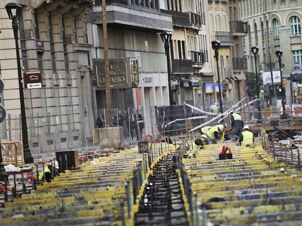 Estado de las obras del Tranvía a mediados de noviembre