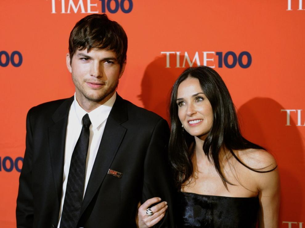 Imagen de archivo de Demi Moore junto a su exmarido Asthon Kutcher
