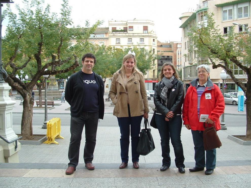 De izquierda a derecha, Javier Casado (Equo), Lucía Oliván (PP-PAR), Begoña Nasarre (PSOE) y Antonia Piedrafita (IU-CHA).