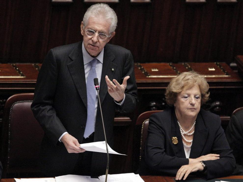 Mario Monti, en la Cámara de Diputados