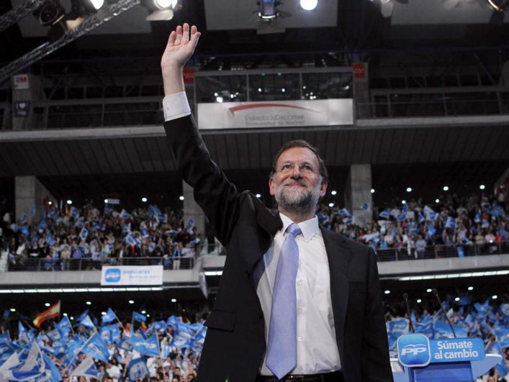 Mariano Rajoy, en el cierre de campaña.