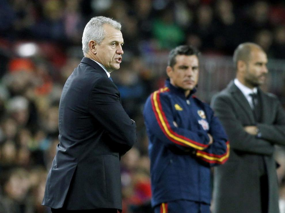 Javier Aguirre en el Camp Nou