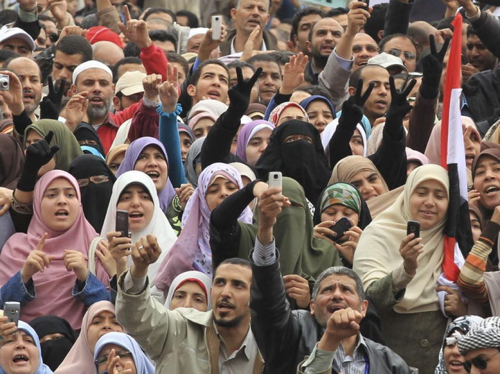 Protesta en la plaza Tahrir, el pasado viernes