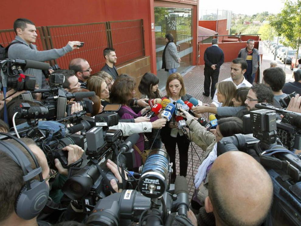 La candidata catalana Carmé Chacón