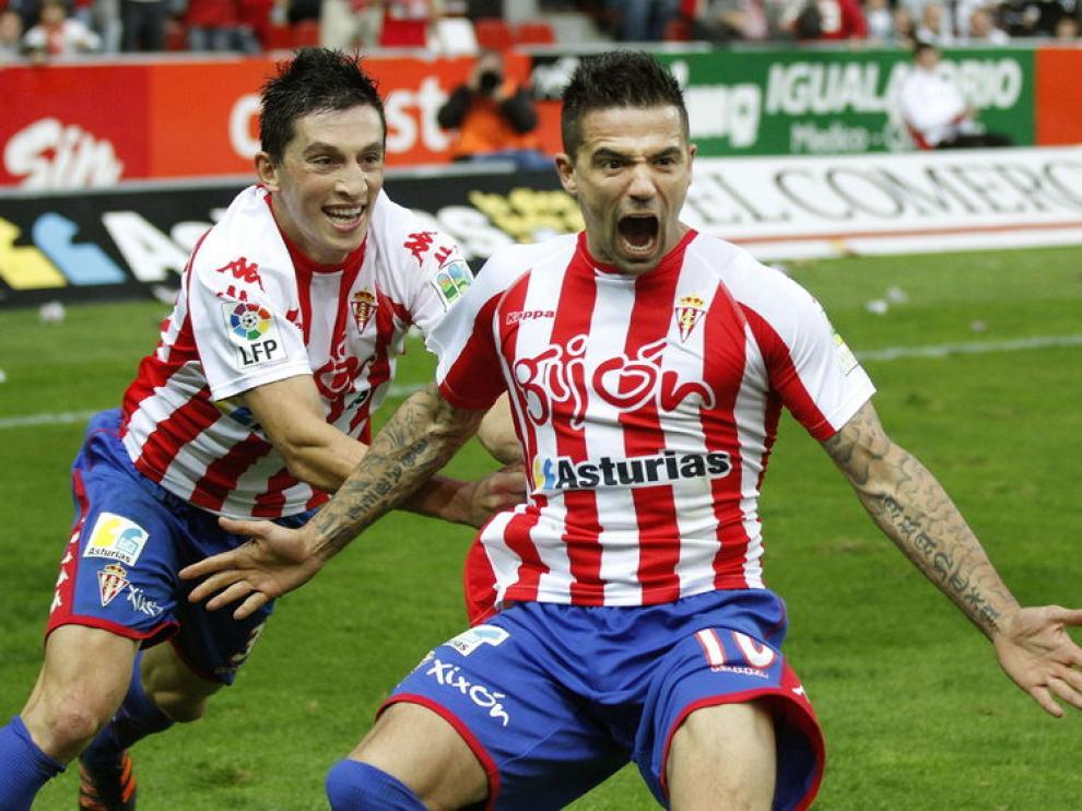 Novo celebra el gol de la victoria