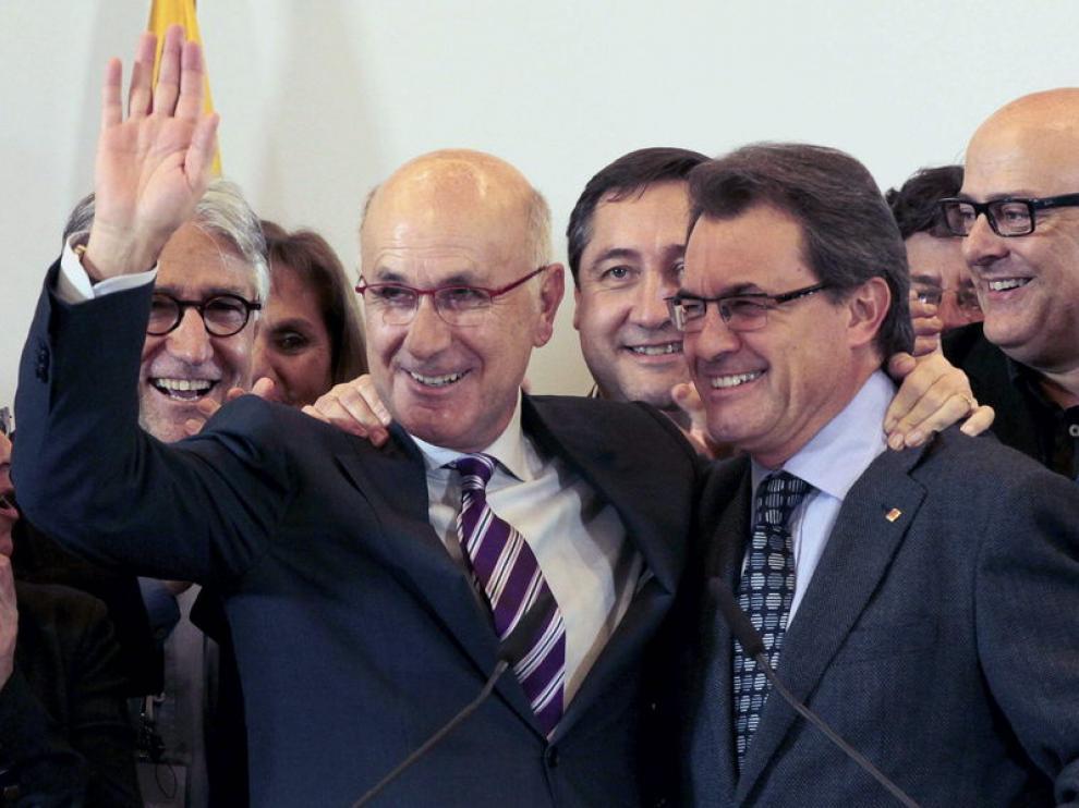 El candidato de CIU, Josep Antoni Duran i Lleida, y el Presidente de la Generalitat de Catalunya, Artur Mas.