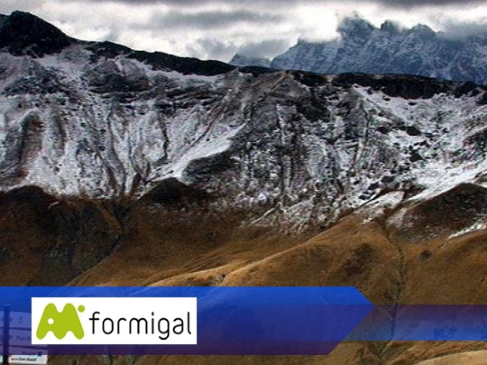 Imagen desde Anayet este lunes, captada por una webcam de la estación de Formigal