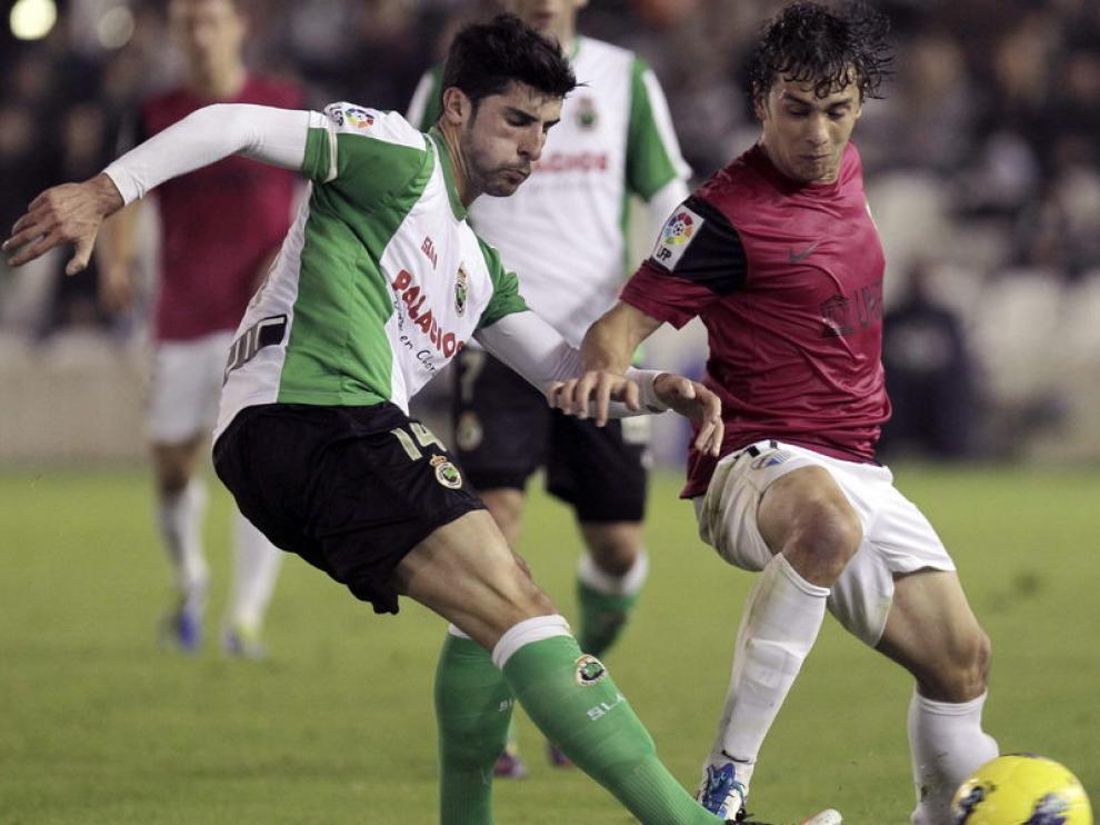 Imagen del partido Racing-Málaga