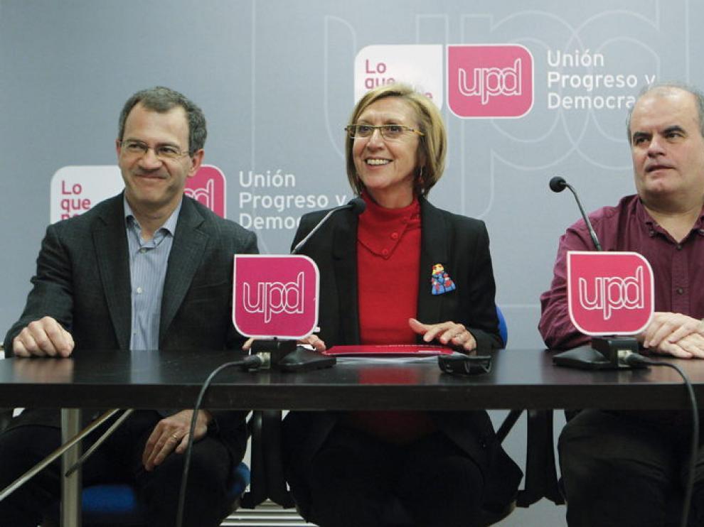 En la imagen, la líder del partido UPyD, Rosa Díez.