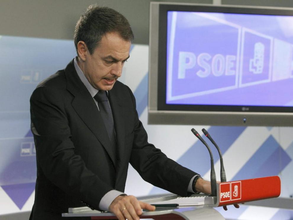 Zapatero en la rueda de prensa