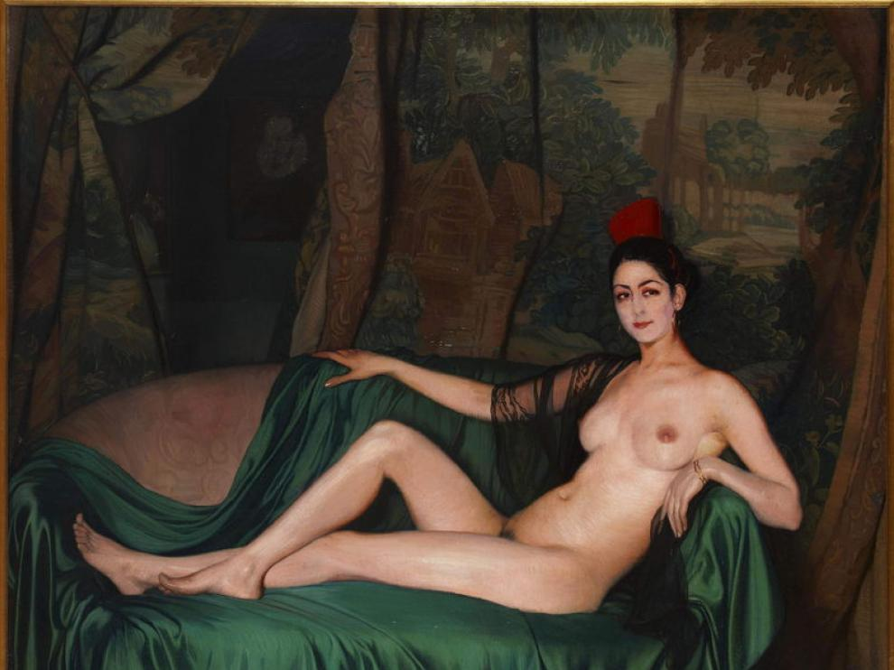 'Madame Souty reclinada en un sofá', de Zuloaga