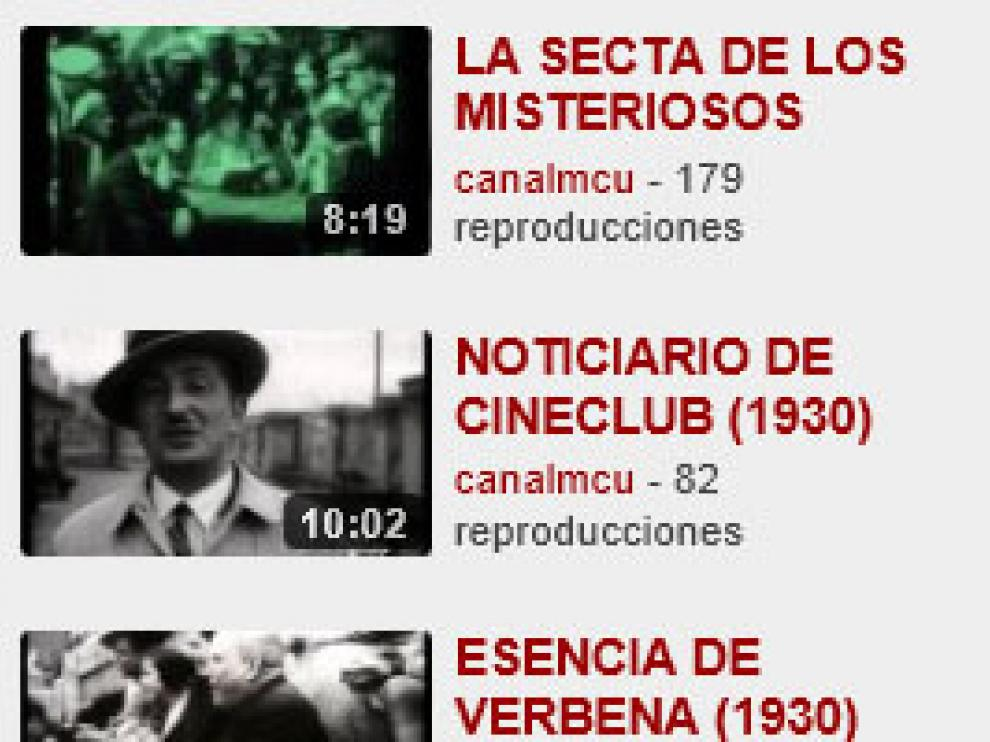 Los vídeos están disponibles en Youtube