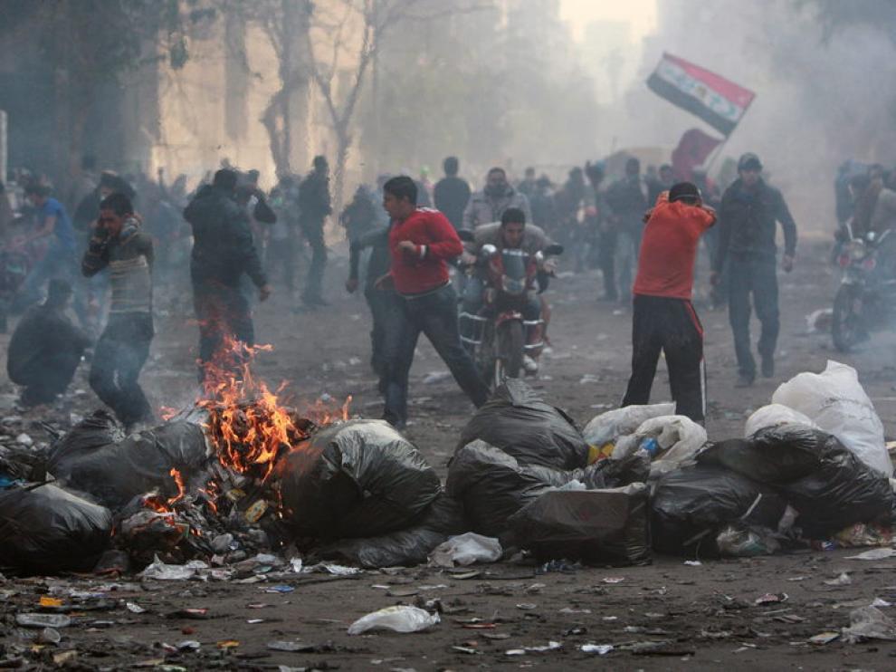 Continúan los enfrenctamientos en el centro de El Cairo