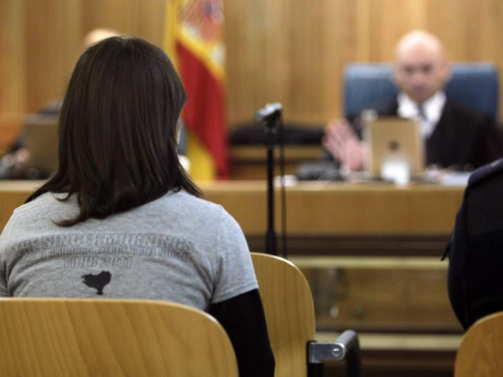 Idoia Mendizabal durante el juicio