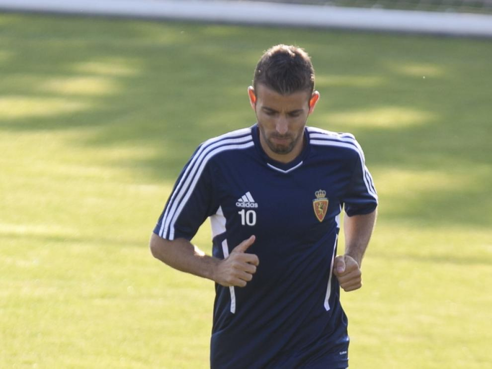 Luis García durante un entrenamiento
