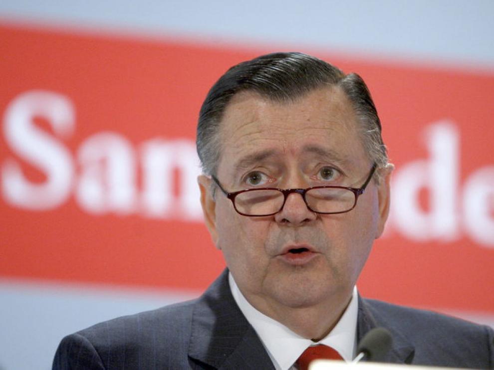 El consejero delegado del Banco Santander, Alfredo Sáenz