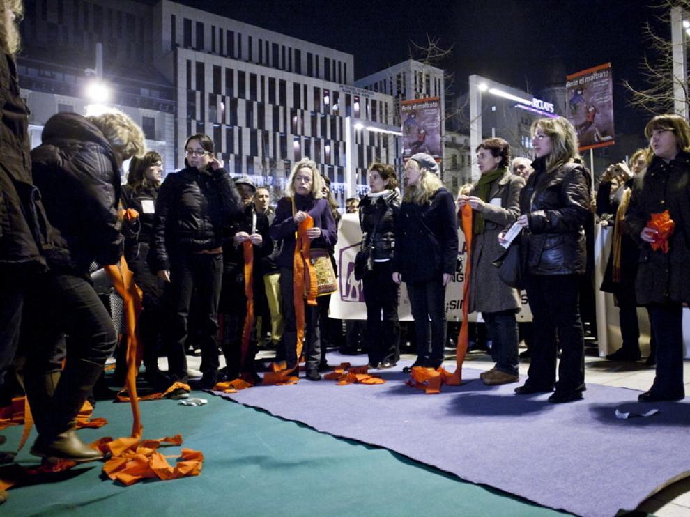 La concentración tuvo lugar en la plaza España