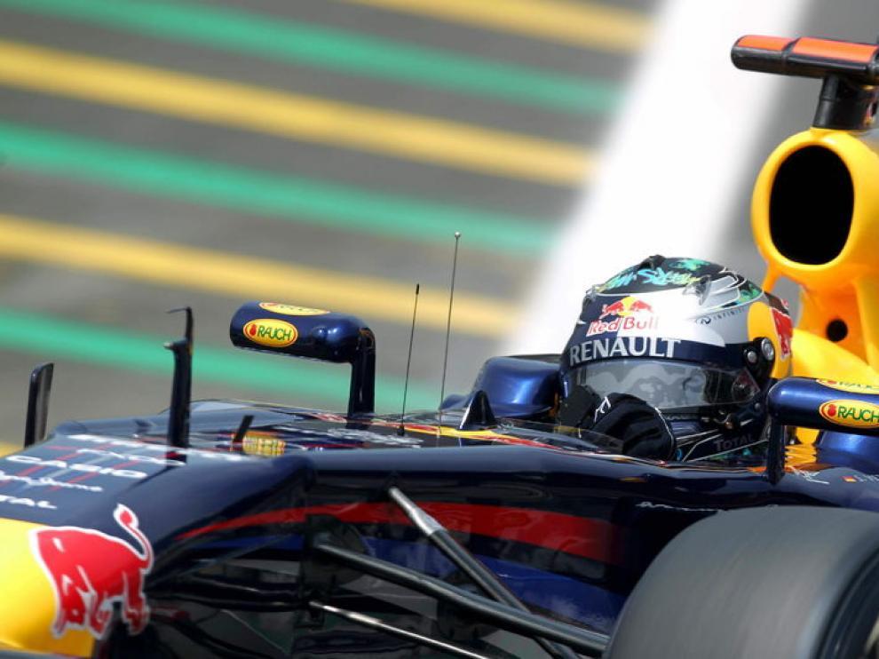 Vettel, en Brasil