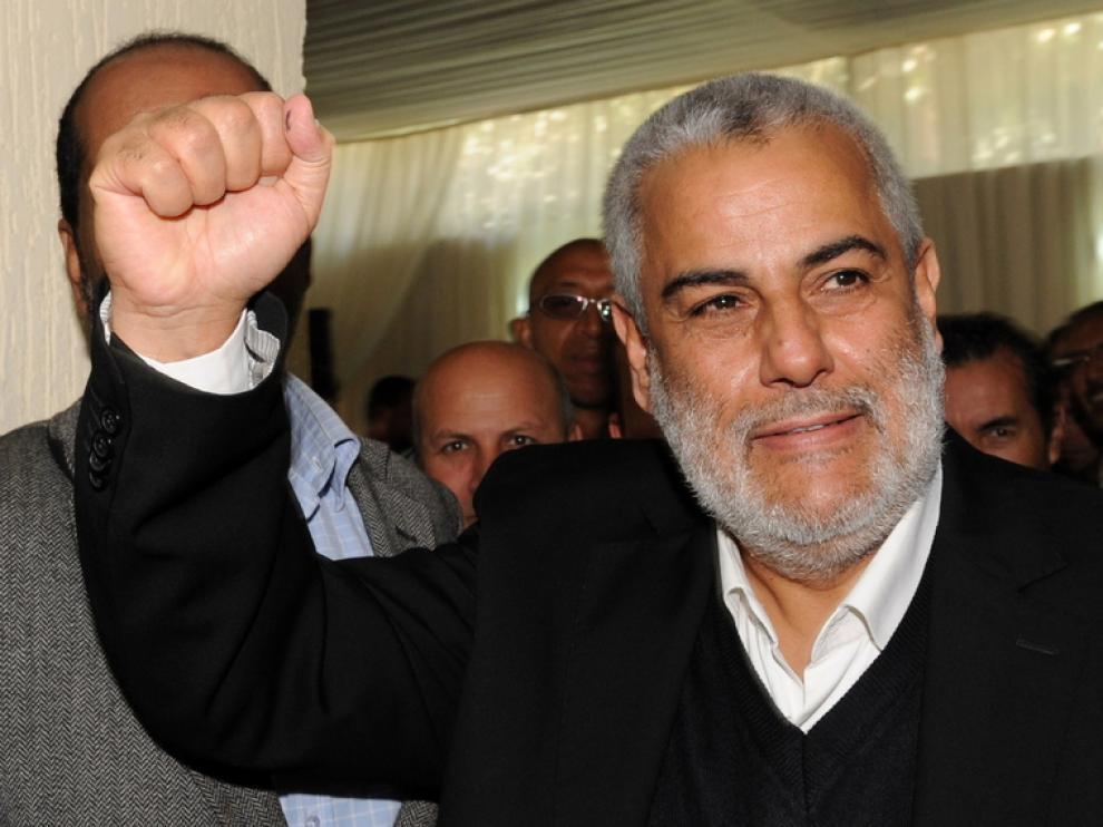 Benkirane, secretario general del PJD, partido ganador de las elecciones en Marruecos