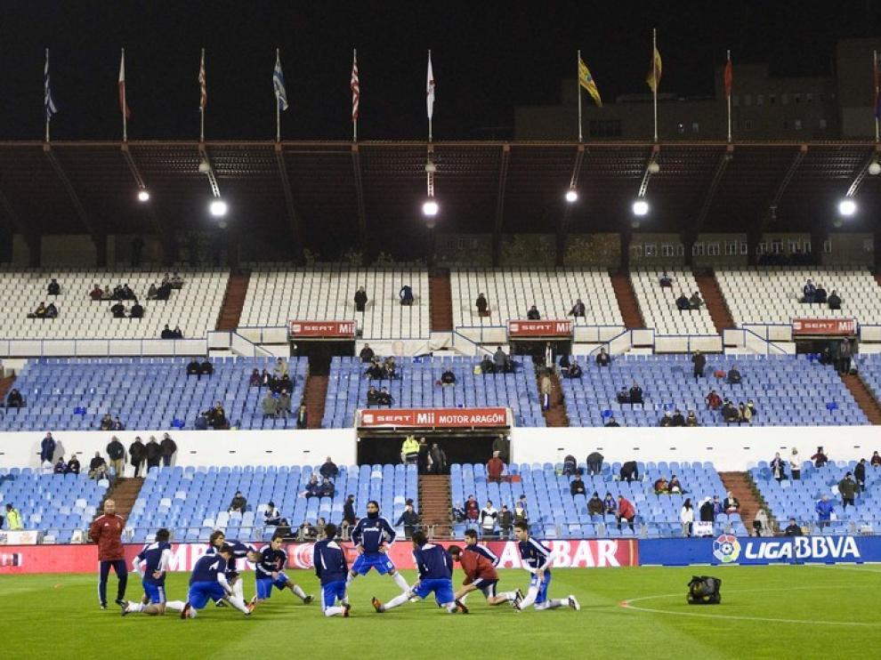 Imagen de La Romareda en un partido del Real Zaragoza