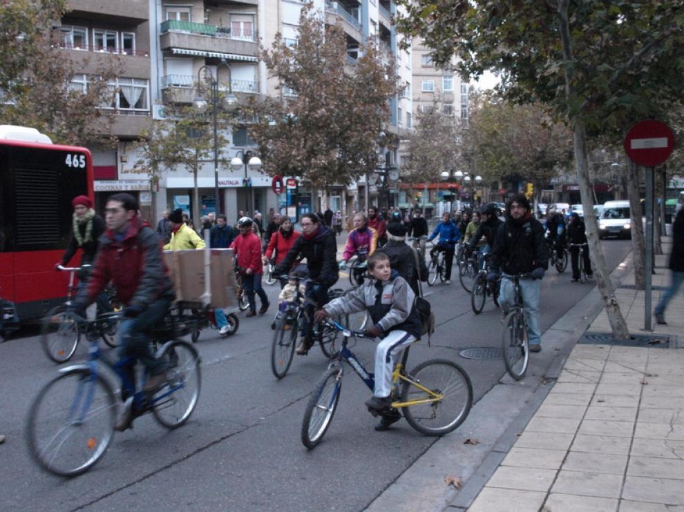 Instante de la marcha ciclista