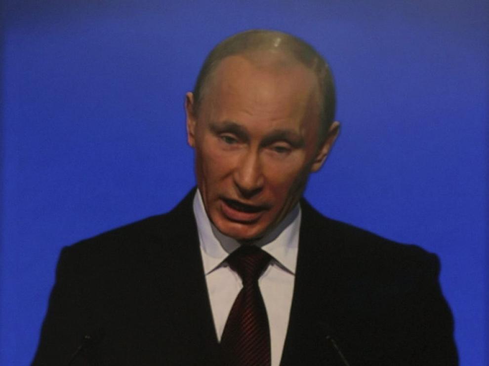 Putin, durante su discurso de hoy.