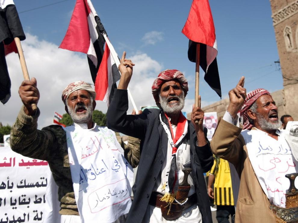 Protestas en Yemen contra el régimen de Saleh