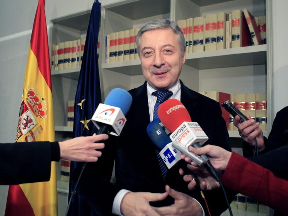 El ministro de Fomento en funciones, José Blanco