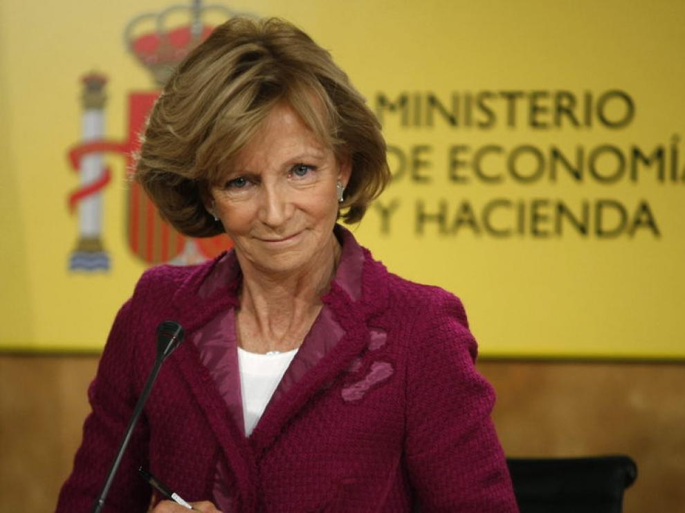 Elena Salgado presentó las cuentas autonómicas