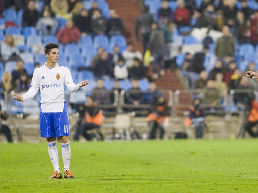 Partido en La Romareda entre el Real Zaragoza y el Sevilla