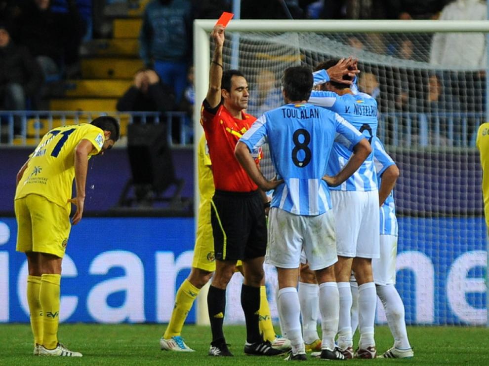 Jeremy Toulalan, expulsado en el encuentro ante el Villarreal