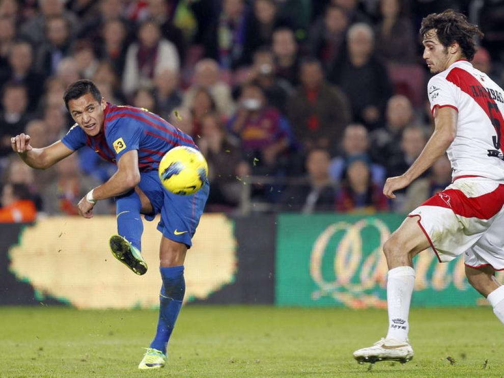 El chileno Alexis Sánchez marcó dos goles