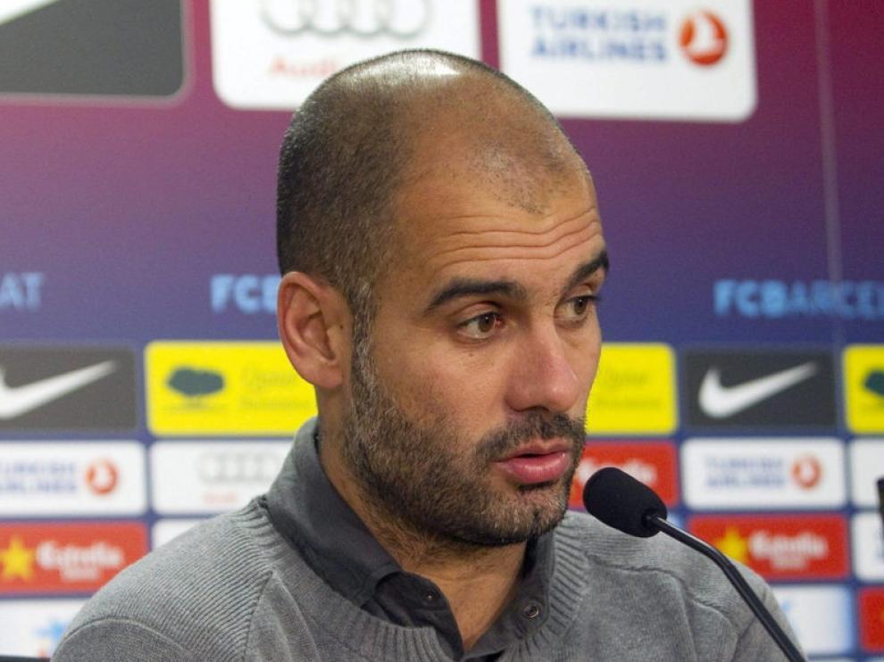El entrenador del Barcelona, Pep Guardiola