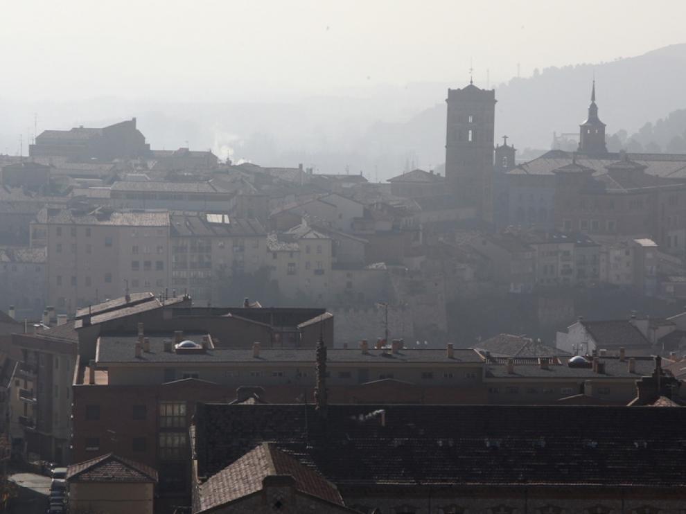 Teruel, cubierto por la niebla