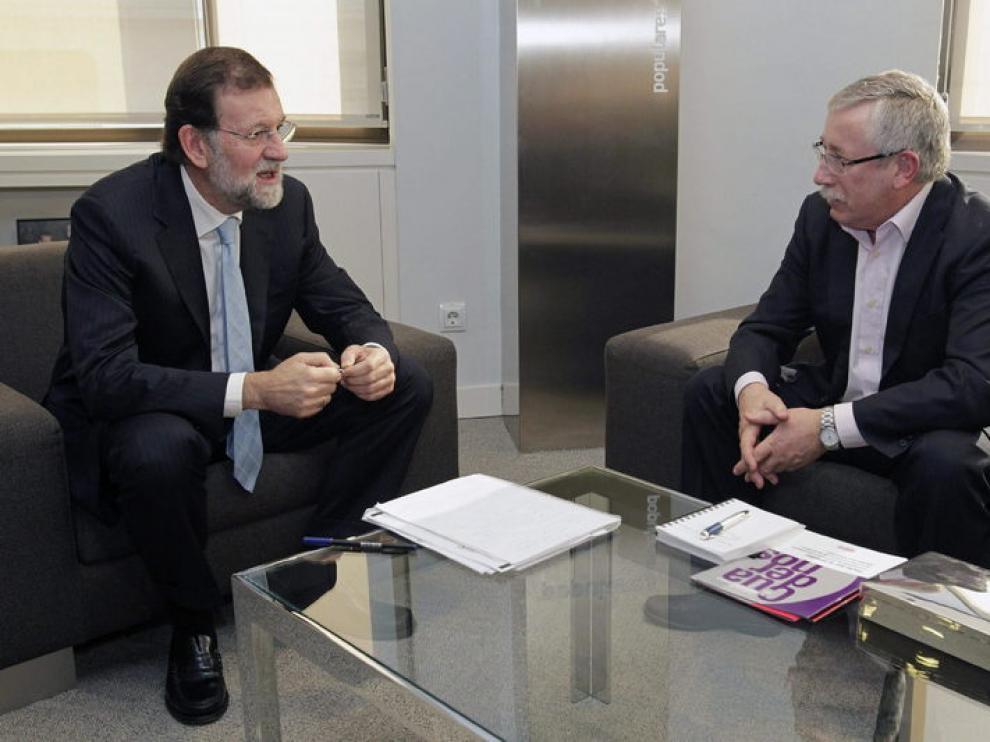 Mariano Rajoy recibe a Ignacio Fernández Toxo