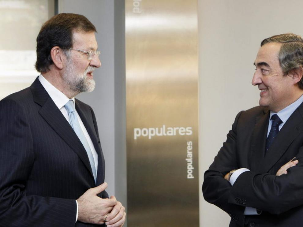 Rosell junto a Mariano Rajoy