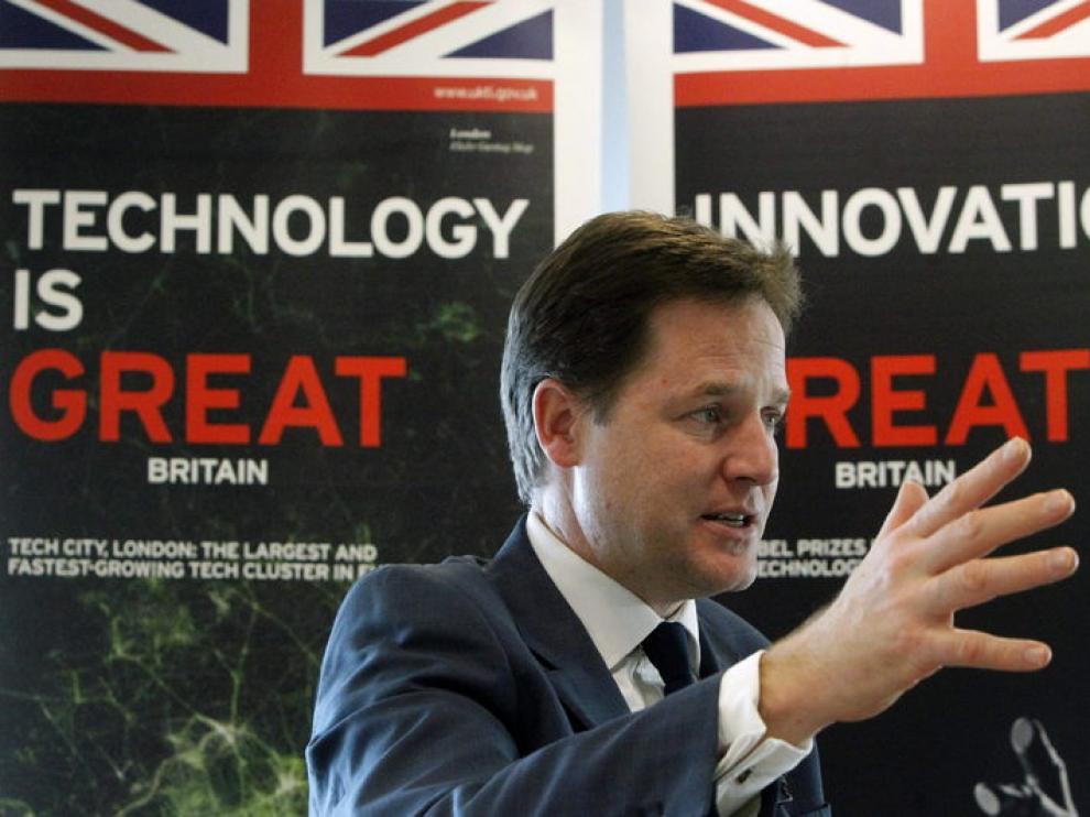 El viceprimer ministro británico Nick Clegg durante una visita a Madrid