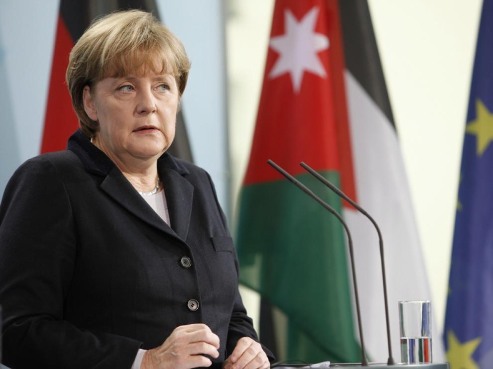 Angela Merkel en una aparición reciente