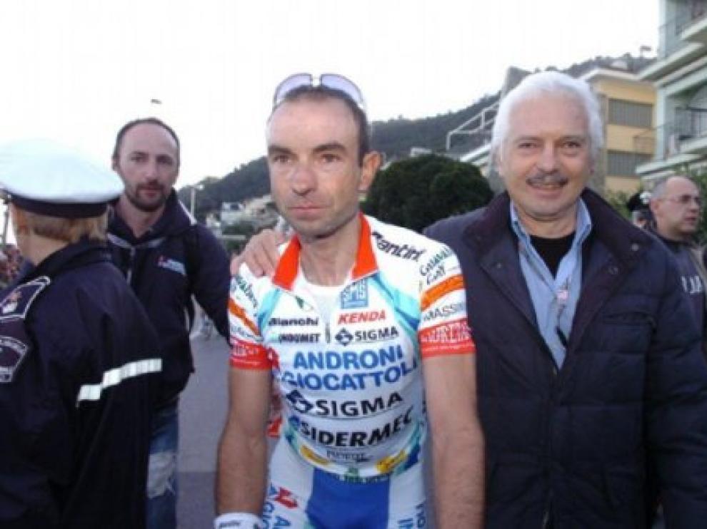 El ciclista aragonés, Ángel Vicioso